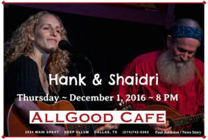 Hank & Shaidri at AllGood Cafe @ AllGood Cafe