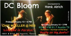 Hank Alrich, Accompanying DC Bloom @ CAFE MUELLER HEB ~ Central Market North
