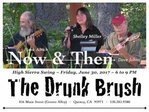 Now & Then: Shelley Miller, Dave Johns & Hank Alrich @ The Drunk Brush Wine Bar