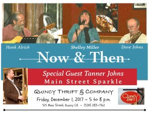 Now & Then Plus Special Guest Tanner Johns ~ Main Street Sparkle @ Quincy Thrift & Company