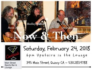 Now & Then ~ Shelley Miller, Dave Johns, Hank Alrich @ Main Street Sports Bar & Lounge