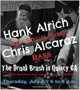 Hank Alrich, with Chris Alcaraz, Bass @ The Drunk Brush Wine Bar
