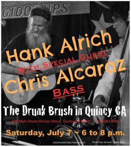 Hank Alrich, with Chris Alcaraz @ The Drunk Brush Wine Bar