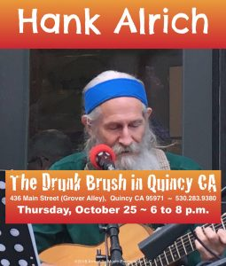 Hank Alrich, Solo @ The Drunk Brush Wine Bar