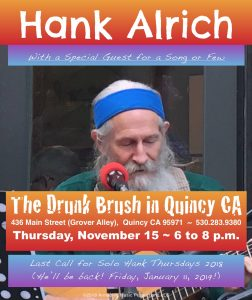 Hank Alrich ~ 2018 Homeground Finalé @ The Drunk Brush Wine Bar