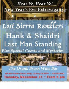 Hank & Shaidri and New Year's Eve Extravaganza @ The Drunk Brush Wine Bar