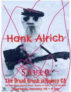 "Snow cancellation! Could've been ""Hank Alrich""… @ The Drunk Brush Wine Bar"