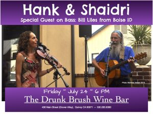Hank & Shaidri, with Bill Liles, bass @ The Drunk Brush Wine Bar